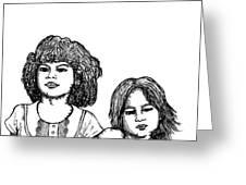 Little Girls Greeting Card by Karl Addison