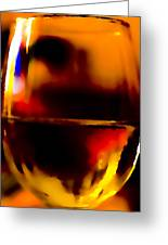 Little Glass Of Wine Greeting Card by Stephen Anderson