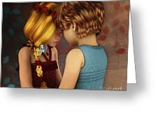 Little Romance Greeting Card by Jutta Maria Pusl