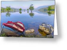 Little Rowboat Greeting Card by Debra and Dave Vanderlaan