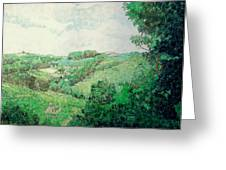 Little Tuscan Valley Greeting Card by Jason Charles Allen