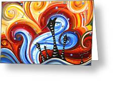 Little Village By Madart Greeting Card by Megan Duncanson