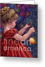 Little Winter Girl Greeting Card by Jane Bucci