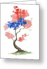 Little Zen Tree 291 Greeting Card by Sean Seal