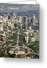 Live 8 Concert Philadelphia Ben Franklin Parkway 2 Greeting Card by Duncan Pearson
