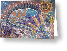 Lizard Dreaming Greeting Card by Vijay Sharon Govender