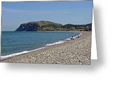 Llandudno Beach Greeting Card by Rod Johnson