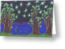 Loch Ness Night Greeting Card by James Davidson