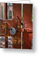 Locked Gate Greeting Card by Christopher Holmes