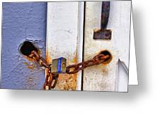 Locked Out Greeting Card by Evelina Kremsdorf
