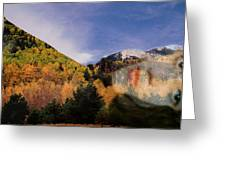 Lockett Meadow Looks Back Greeting Card by Richard Henne
