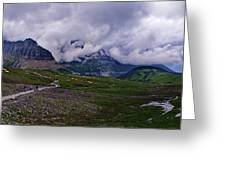 Logans Pass Greeting Card by Christopher Lugenbeal