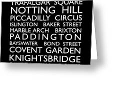 London Bus Roll Greeting Card by Michael Tompsett