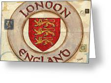 London Coat Of Arms Greeting Card by Debbie DeWitt