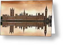 London Greeting Card by Jaroslaw Grudzinski