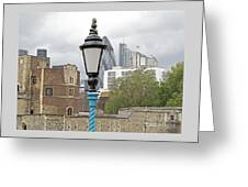 London Old And New Greeting Card by Ann Horn