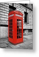 London Phone Booth Greeting Card by Rhianna Wurman