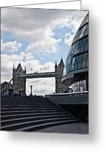 London Tower Bridge Greeting Card by Dawn OConnor
