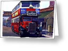 London Transport Renown Greeting Card by Mike  Jeffries