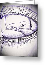 Look A Look Greeting Card by Paulo Zerbato
