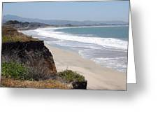 Looking Back At Half Moon Bay From The North Greeting Card by Carolyn Donnell