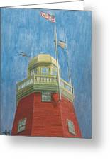 Looking Up Portland Observatory Greeting Card by Dominic White