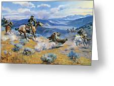 Loops And Swift Horses Are Surer Than Lead Greeting Card by Charles Russell