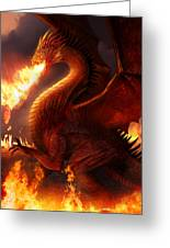 Lord Of The Dragons Greeting Card by Philip Straub