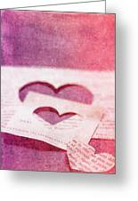 Lost Hearts Greeting Card by Rebecca Cozart