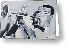 Louis Armstrong Greeting Card by Joseph Palotas