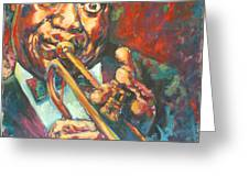 Louis Armstrong Greeting Card by Tachi Pintor