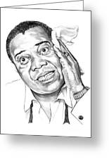 Louis Satchmo Armstrong Greeting Card by Murphy Elliott
