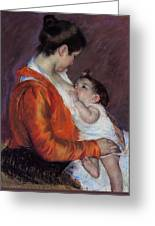 Louise Nursing Her Child Greeting Card by Marry Cassatt