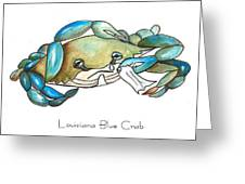 Louisiana Blue Crab Greeting Card by Elaine Hodges