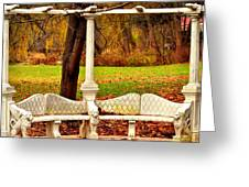 Love Bench Greeting Card by Puzzles Shum