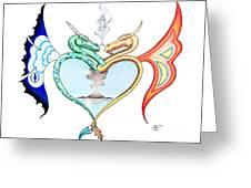 Love Dragons Greeting Card by Robert Ball