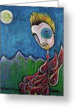 Love For Birdman Greeting Card by Laurie Maves ART