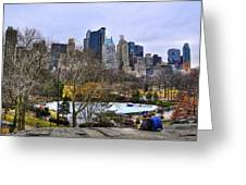 Love In Central Park Too Greeting Card by Randy Aveille