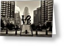 Love In Sepia Greeting Card by Bill Cannon