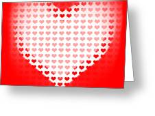 Love Of Valentines Background. Big Red Heart Greeting Card by Ryan Jorgensen