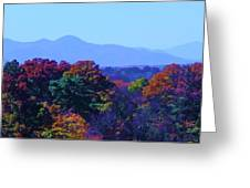 Lovely Asheville Fall Mountains Greeting Card by Ray Mapp