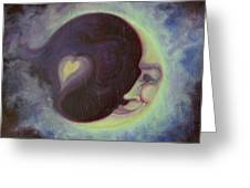 Lovermoon Greeting Card by Suzn Smith