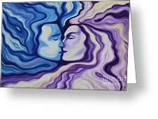 Lovers In Eternal Kiss Greeting Card by Jindra Noewi