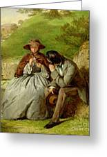 Lovers Greeting Card by William Powell Frith