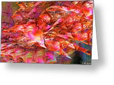 Loves Whirlwind Greeting Card by Michael Durst