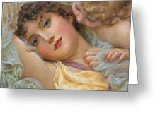 Love's Whispers Greeting Card by NP Davies