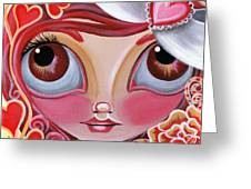 Lovey Dovey Greeting Card by Jaz Higgins