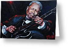 Lovin Lucille B B King Greeting Card by Carole Foret