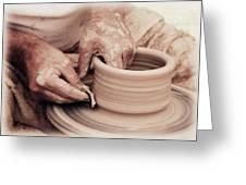 Loving hands creation Greeting Card by Emanuel Tanjala