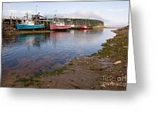 Low Tide Greeting Card by Jim Mauchly